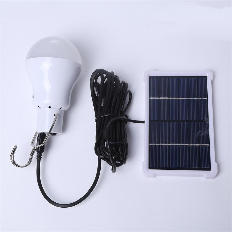 Portable Lanterns Led Solar Garden Bulb For Camping Lighting With Solar Panel and Rechargeable Bulbs Solar Tent Lighting (1)