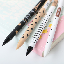 5PCS 0.5MM Students Plastic Mechanical Pencil High Quality Black White Dots Office Stationery Automatic Pen Learning Essential