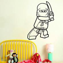 Art design cheap vinyl home decoration Cartoon Lego ninja wall sticker removable house decor toy name quote decals for bedroom
