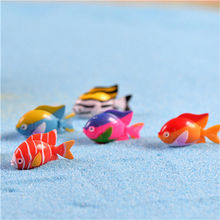 Cute Goldfish Fishes Dollhouse Landscape Miniatures Accessories Resin Ornaments Home Garden Decor DIY Material 3*1.9cm(China)