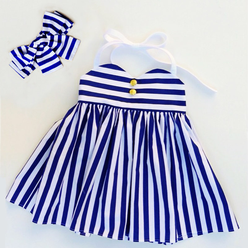 baby girls clothes blue strip girls romper dress with headband boutique baby rompers Sleeveless Toddler Girl Romper Photography <br><br>Aliexpress
