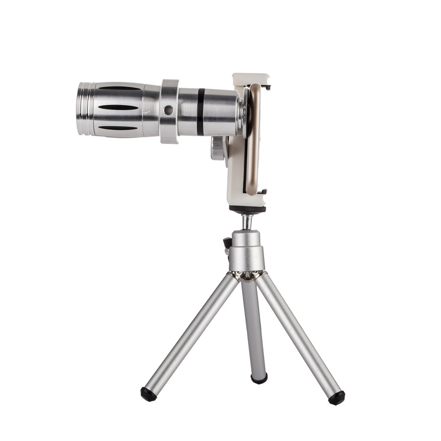 Mobile Phone Lens 12X Zoom Telescope Camera Telephoto Lenses Lente Para Celular With Tripod Case Kit for iPhone and smart phone