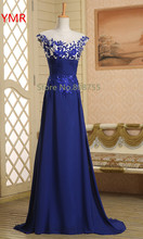 2016 Real Photo Fast Delivery Cheap Appliques A-line Long Prom Dresses/Evening Dresses Us Size 2 4 6 8  In Stock AINFJ816