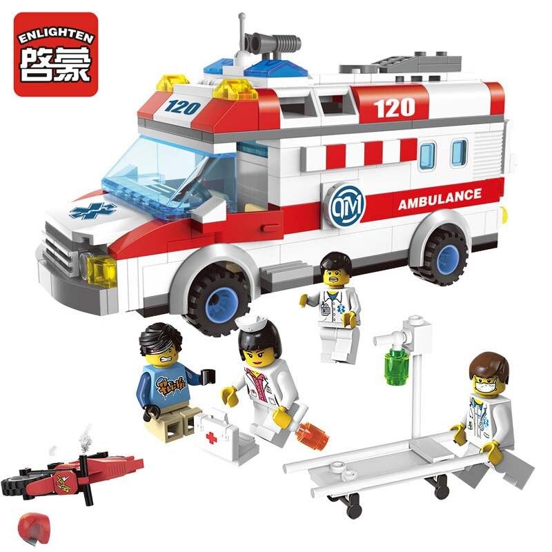 LEWEIHUAN Ambulance Nurse Doctor First Aid Building Blocks Kids Educational Bricks DIY Toys Compatible with Legoe <br><br>Aliexpress