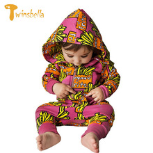 TWINSBELLA Baby Rompers Clothes Winter Unisex Hooded Overalls for Newborns Fashion Designer Colored Cotton Jumpsuit Babe Onesie