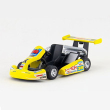KINSMART Toy Cars For Collection 12.5cm Alloy Metal Go-kart Racing Car Toys For Baby Boys Door Openable Pull Back Car Brinquedos