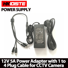 HKIXDISTE 12V 5A 4 Port CCTV Camera AC Adapter Power Supply Box For The CCTV Camera(China)