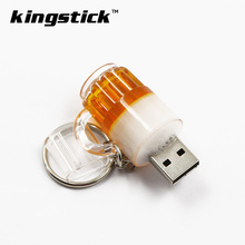 Hot fashion beer mug model usb flash drive 4gb 8gb 16gb beer glass pendrive 64gb 32gb memory stick pen drive thumb drive gift