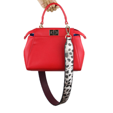 Leopard Style Leather Strap For Purse Wide Shoulder Belts Women Bags Strap PU Handles For Bag Fashion Bag Accessories