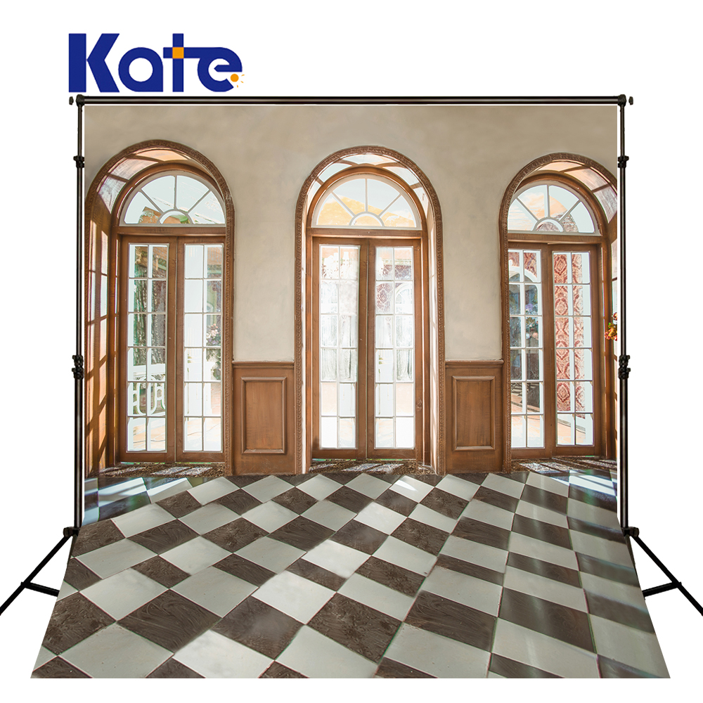 KATE Photography Background 5x7ft Wedding Backdrop Window Backdrops Vintage Brick Floor Backdrops Children Backdrop for Studio<br>