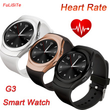 NO.1 G3 Round Smart Watch Heart Rate Monitor Support SIM TF Card Pedometer Sync Calls Notifications for iPhone Android Phone
