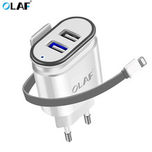 Buy Olaf 5V 3.4A Dual Ports USB Wall Travel Power Charger Adapter EU Plug Usb Smart Mobile Phone Charger iPhone Samsung Xiaomi for $4.99 in AliExpress store