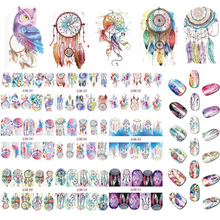 12 Designs Nail Art Sticker Set Windmill Fantasy Image Patterns Water Transfer Decals Nail Beauty DIY Tattoos Manicure BN301-312(China)