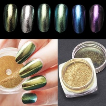 Hot Selling 2g/box Mirror Nail Glitter Powder Shinning Gold/Sliver Nail Art Sequins Chrome Pigment Glitters Popular(China)