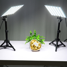LED Video Light Kits Small Photo Studio Softbox Shooting Mini Photo Box 2Pcs*45cm Light Stand +2Pcs*LED Light Board+4Pcs*Clips(China)