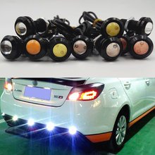 Car Flashing 10PCS/Lot 12V LED 18mm Eagle Eye Light High Power lamp Daytime Running Light parking Reverse Fog bulb Backup DRL(China)