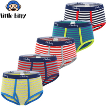 Buy Baby 5 Pieces/lot Panties Children 100% Cotton Underwear Boys Suits 2018 Little Triangle Briefs Clothes Child Clothing
