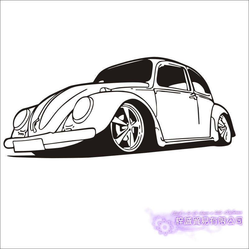 Car Sticker Beetle Vehicle Decal Classical Cars Posters Vinyl Wall Decals Pegatina Quadro Parede Decor Mural Car Sticker