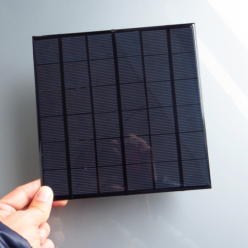1pc x 9V 4.2W 500mA Mini polycrystalline solar Panel, 9VDC 5W solar cells module battery charger enducation kits(China)