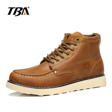 TBA Men's Genuine Leather Soft and Comfortable Platform Australian Military Boots New Fashion Autumn Winter Male Boots 5985