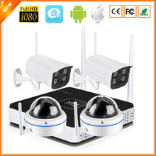 BESDER P2P Wireless 4CH CCTV System Wireless NVR & Wifi IP Camera Outdoor Camera Vandal Proof Dome Camera Wifi 1080P 960P 720P