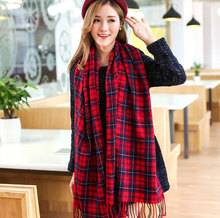 Women's Winter Stole Plaid Scarves Tippet Wraps Brand Ladies Scarf Women Classic Neckerchief Shawls and Scarves
