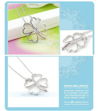 Wholesale! Sweet Wind Lucky Four Leaf Clover Pendant Clavicle Necklace 2015 new Four Leaf Clover necklace