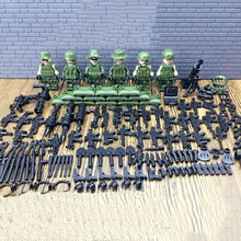 2017 New 6pcs/lot  Modern Military Armed Forces figures SWAT Jungle Maze Mini Sences mini soldiers with weapon free shipping