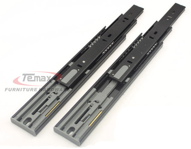 12 300mmcabinet soft close hydraulic spring ball bearing drawer slides runner cupboard glides with damper DB456F<br>