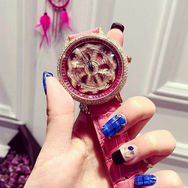Ladies Luxury Rhinostone Rotatable Dial Quartz Watch Women Delicate Rose Gold Female Wristwatch Relogio Feminino Relojes Mujer<br><br>Aliexpress