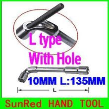 BESTIR taiwan excellent quality 10mm L-type socket wrench with hole L:135mm best hand tools,NO.57510 freeshipping