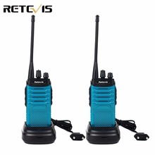 2pcs Retevis RT7 Blue Walkie Talkie 5W UHF 400-470MHz FM Radio CTCSS/DCS Scan Handheld Ham Radio Hf Transceiver