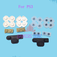 For Sony Playstation PS 3 Controller Silicone Conductive Rubber Button Pad Set For PS3