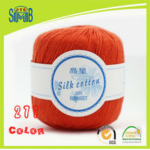 china oeko tex suzhou huicai manufacturer online sales high quality 50g skeins cotton acrylic mixed silk knitting yarn(China)