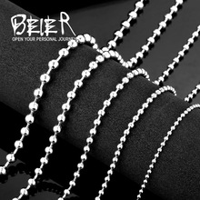 2.4/3/4/5/6mm 316L Stainless Steel Ball Chain Necklace Chain For Pendant BN1002