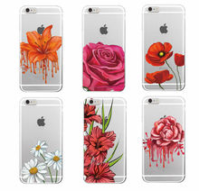2016 Victoria Rose Flower Floral Pattern Hot Pink Garden Soft TPU Phone Case Cover For iPhone 4 5 6 7 S Plus SE 5C Samsung Funda