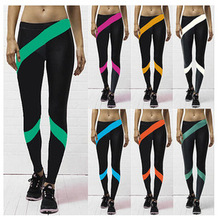 Punk Sale Solid Active 2017 Top Casual Fight Skin Pants Force Exercise Women Elastic Fitness Leisure Trousers Slim Aerobics(China)