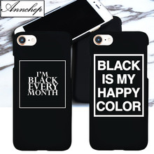 New Black is My Happy Color TV Series Skam Matte Hard Case For iphone 6 6s Plus 5s SE Cover For iphone 7 8 Plus X Phone Case