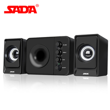 SADA D-205 Quality Surround Voice Subwoofer Stereo Bass PC USB Speaker Computer Speakers for iPhone Smart Phones Notebook Laptop(China)
