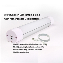New style Small night lights rechargeable led tube with magnet USB Recharge camping lamp with lithium battery 6-Pack