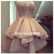 2016 hot sale Elegant Ball Gown lace evening gowns Vestidos de novia sexy Sweetheart beading evening dress ZHB-480