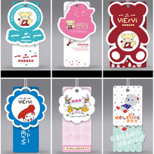 Custom Grade A Coated paper price tags Baby clothes swing hang tag 1000 pcs/single design