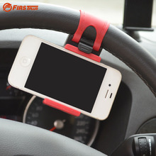Retractable Car Steering Wheel Mount Mobile Holder Phone Stand For Sumsing Galaxy S3 S4 S5 iPhone 5/5s 6 6S 7 GPS