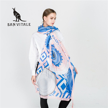 Scarves Women Scarf Winter Warm Lace Poncho Small Square Silk Apparel Christmas Clothes Clothing Woman Luxury Brand Cashmere(China)