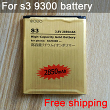 Hot sell Rechargeable Li-ion Golden Replacement Battery EB-L1G6LLU for Samsung Galaxy S3 i9300 battery