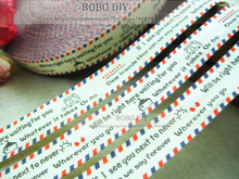 Min.order is $5 (mix order), Zakka cotton label,2CM,warm words about friendship label,free shipping,BOBO DIY accessory,F001#-17