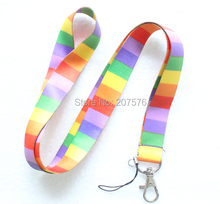 Free  shipping  10pcs color neck Lanyard for ID Key chain Cell Phone Neck Strap Lanyards H-18