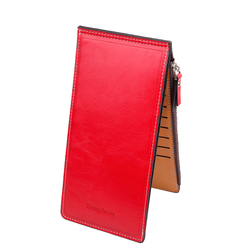 Multi Cards Holder Womens Wallet Soft Waxy Leather Single Zipper Purse Wallet Coin Pocket Ladies Money Bag Long Vallet Carteras<br><br>Aliexpress