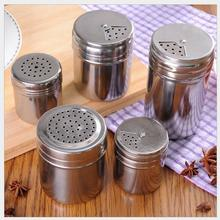 Multi Function Stainless Steel Seasoning Pot Kitchen Outdoor Barbecue Pepper Bottles Pepper Pot Herb Spice Tools(China)