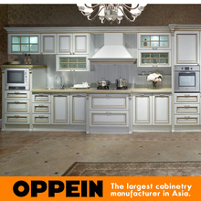 Euro Antique Line White MDF Modular Kitchen Cabinets  (OP13-264)